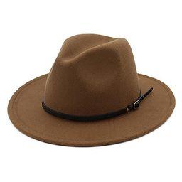 Lisianthus Women Belt Buckle Fedora Hat | Amazon (US)