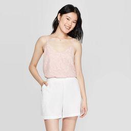 Women's Regular Fit Sleeveless V-Neck Cami - A New Day™ Pink | Target