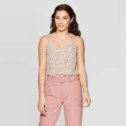 Women's Leopard Print Sleeveless V-Neck Tank Top - A New Day™ Tan | Target