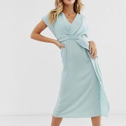 ASOS DESIGN twist and drape front midi dress | ASOS US