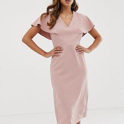 ASOS DESIGN angel sleeve midi pencil dress | ASOS US
