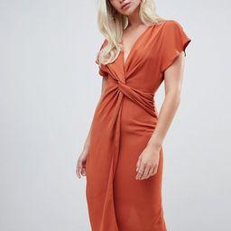 ASOS DESIGN twist midi dress with kimono sleeve | ASOS US