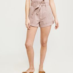 Belted Twill Shorts | Abercrombie & Fitch US & UK