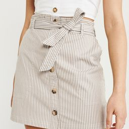 Utility Button-Up Skirt | Abercrombie & Fitch US & UK