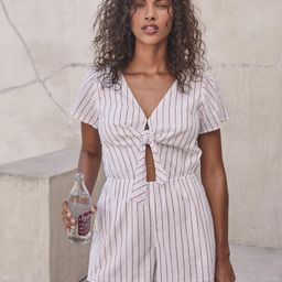 Tie-Front Romper | Abercrombie & Fitch US & UK