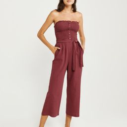 Smocked Strapless Jumpsuit | Abercrombie & Fitch US & UK
