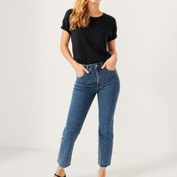 Ultra High Rise Ankle Straight Jeans | Abercrombie & Fitch US & UK
