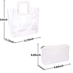 Women Fashion Clear Tote Bag Purse Waterproof | Amazon (US)