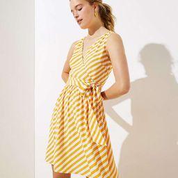 Striped Sleeveless Wrap Dress   LOFT
