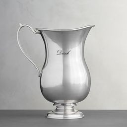 Antique Silver Sentiment Pitchers | Pottery Barn (US)