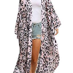 Yonala Women's Swimsuit Cover up Beach Long Kimono Bathing Suit Chiffon Floral Cardigan   Amazon (US)