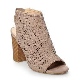 LC Lauren Conrad Hazelnut Women's High Heel Ankle Boots | Kohl's