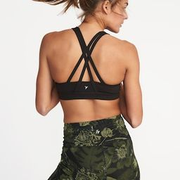 Medium Support Strappy Sports Bra for Women   Old Navy US