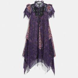 Mini Tiered Dress With Ruffle Sleeve   Coach (UK)