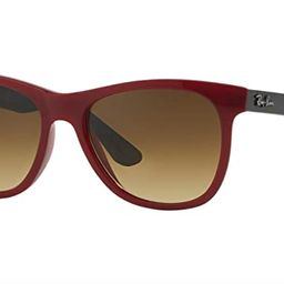 Ray-Ban RB4184 - 604485 Sunglasses Red Grey Frame Brown Gradient Lens 54mm | Amazon (US)