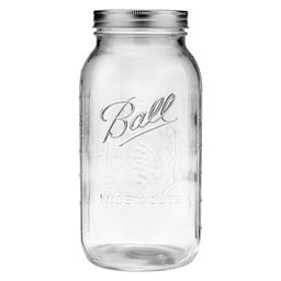 Ball 64oz Glass Mason Jar with Lid and Band - Wide Mouth   Target