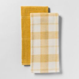 Check With Solid Kitchen Towel 2pk - Threshold™   Target