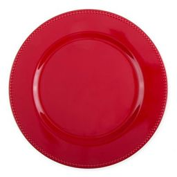 13-Inch Beaded Charger Plates in Red (Set of 6) | Bed Bath & Beyond