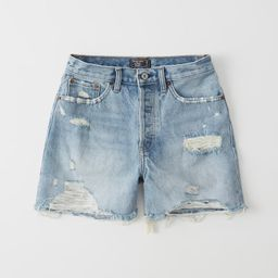 High Rise Mid-Length Denim Shorts | Abercrombie & Fitch US & UK