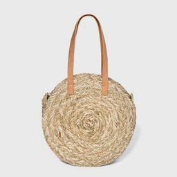 Circle Straw Tote Handbag - Universal Thread™ Natural   Target