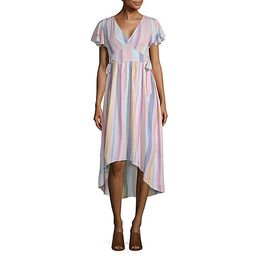 a.n.a Short Sleeve Striped Midi Dress | JCPenney