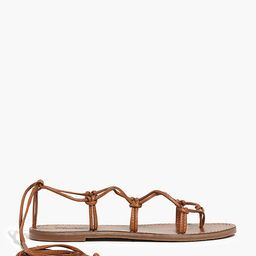 The Boardwalk Lace-Up Sandal | Madewell