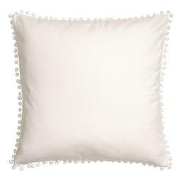 Pompom-trim Cushion Cover | H&M (US)
