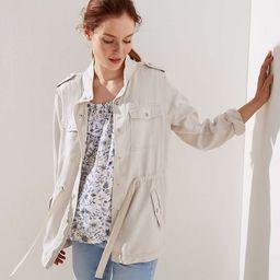 Drawstring Utility Jacket | LOFT