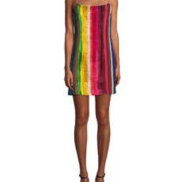 Rainbow Velvet Mini Slip Dress   Bergdorf Goodman
