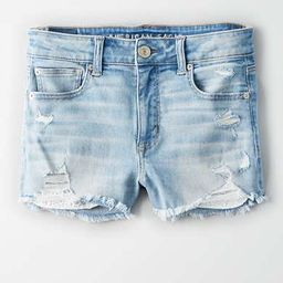 AE Ne(X)t Level High-Waisted Denim Short Short   American Eagle Outfitters (US & CA)