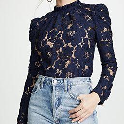 WAYF                                    Emma Puff Sleeve Lace Top | Shopbop