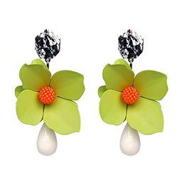 Big Sale ZA Design Metal Flower Earrings Fashion Women Statement Tassel Earrings for Women Rock C... | Amazon (US)