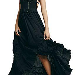 R.Vivimos Womens Summer Cotton Sexy Blackless Long Dresses | Amazon (US)