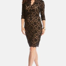 Scalloped Lace Sheath Dress | Nordstrom
