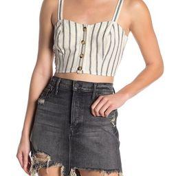 Dress Forum   Striped Sweetheart Linen Blend Crop Top   Nordstrom Rack   Nordstrom Rack