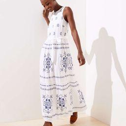 Mosaic Tiered Maxi Dress | LOFT