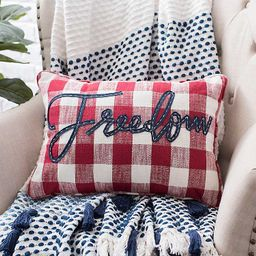 Buffalo Check Freedom Accent Pillow | Kirkland's Home