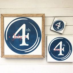 4th of July farmhouse summer wood sign, wall art, fourth of july, patriotic, america, usa, americ... | Etsy (US)