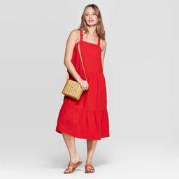 Women's Sleeveless  U-Neck Midi Tiered Dress - Universal Thread™ Red | Target