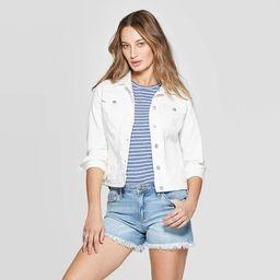 Women's Freeborn Denim Jacket - Universal Thread™ White | Target