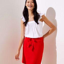 Textured Jogger Skirt   LOFT