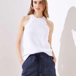 Striped Cotton Drawstring Shorts   LOFT