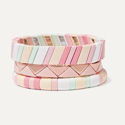 Roxanne Assoulin       Bahamas set of three enamel bracelets $266  ...   Net-a-Porter (US)