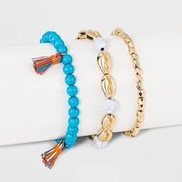 SUGARFIX by BaubleBar Mixed Media Shells Bracelet Set   Target