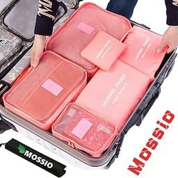 Mossio 7 Set Packing Cubes with Shoe Bag - Compression Travel Luggage Organizer   Amazon (US)