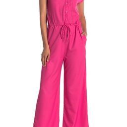 ONE ONE SIX   Short Sleeve Front Button Jumpsuit   Nordstrom Rack   Nordstrom Rack