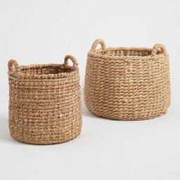 Natural Hyacinth Noelle Tote Baskets | World Market