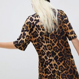 ASOS DESIGN ultimate slinky t-shirt dress in leopard print | ASOS US