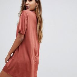 ASOS DESIGN slinky ultimate rolled sleeve t-shirt dress | ASOS US