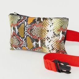 ASOS DESIGN snake clean fanny pack | ASOS US